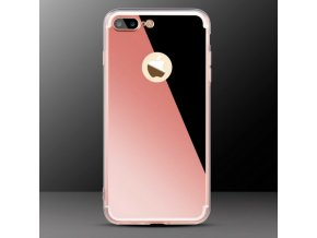 Luxusní kryt MIRROR iPhone 7 Plus - Rose gold