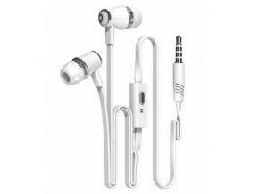Sluchátka s plochým kabelem BASIC - Bílé