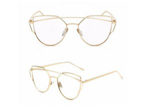 Sluneční brýle VINTAGE - Gold + clear