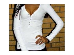 Dámské tričko s dlouhým rukávem bílé